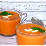 Gazpacho De Sandia con Feta y Hierbabuena (Receta base)