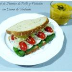 Sandwich de fiambre de Pollo con Pistachos y Crema de Verduras