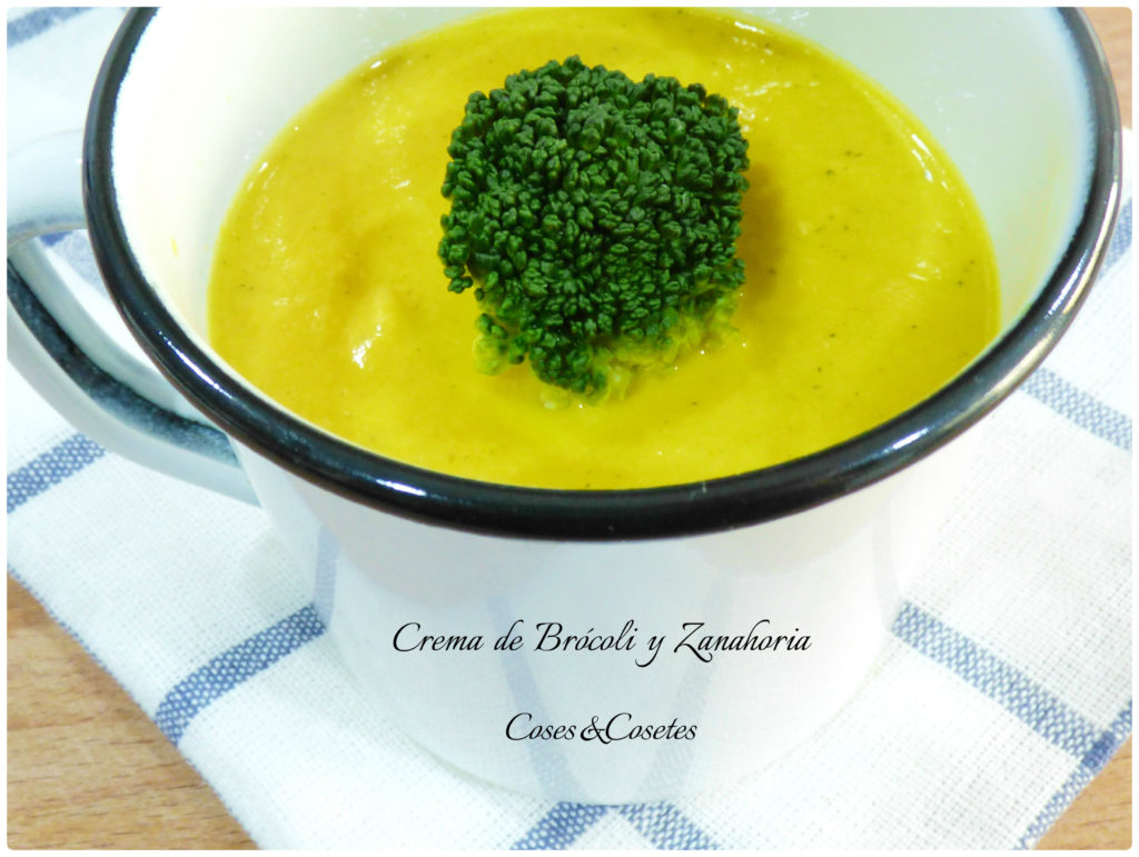 Crema de brócoli y zanahoria